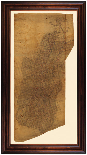 Shenandoah Valley, 1862, Virginia, Stonewall Jackson, Hotchkiss, Civil War Map