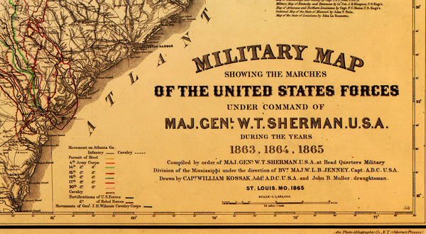Sherman's March to the Sea, 1863–1865, Civil War Map