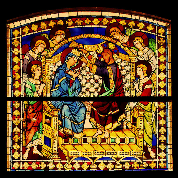 Italy, 1288, Siena, Life of Virgin Mary, Stained Glass, Art Print