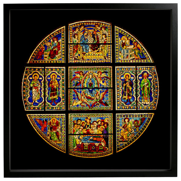 Italy, 1288, Siena, Virgin Mary, Stained Glass, Framed Art Print