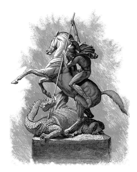 St. George & the Dragon, 1878, Sir Joseph Boehm, Fine Art Print