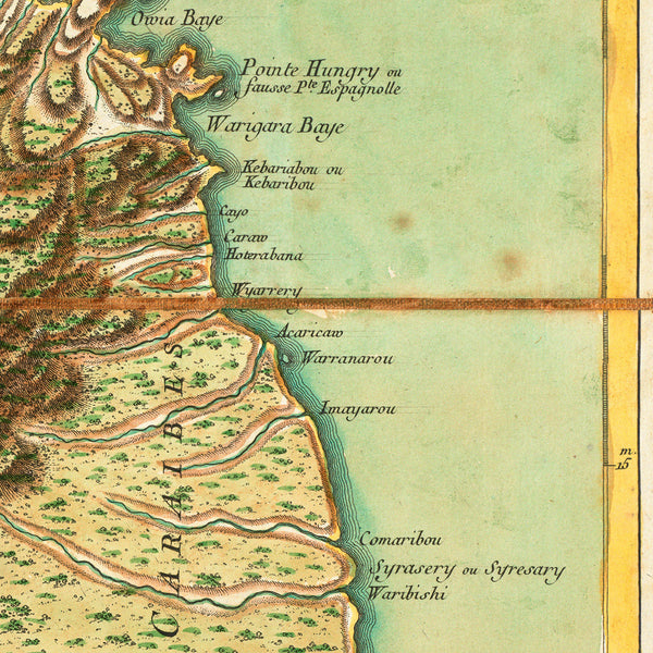 Caribbean, 1778, St. Vincent, Jefferys, Le Rouge, Old Map