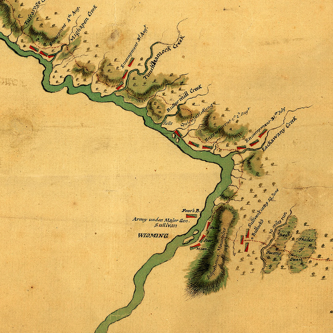 Map Of New York Finger Lakes.New York 1779 Finger Lakes Sullivan Expedition Iroquois Confederacy Old Map