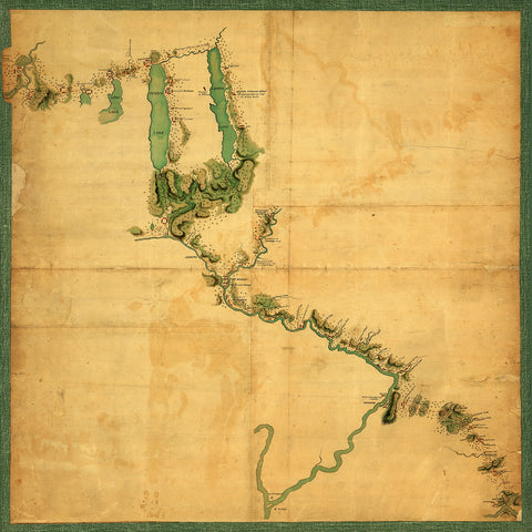 New York, 1779, Finger Lakes, Sullivan Expedition, Iroquois Confederacy, Old Map