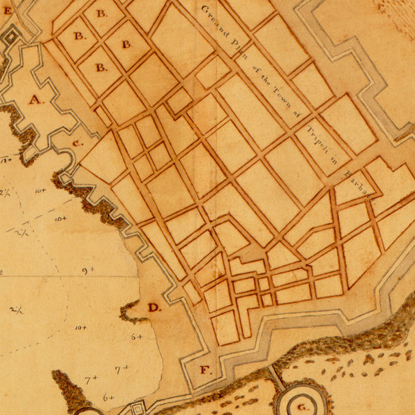 Tripoli, 1804, Battle of Tripoli Harbor, Barbary Wars, US Navy, USMC, Plan & View