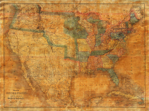 USA, 1839, North America, David Burr, Jedediah Smith Map
