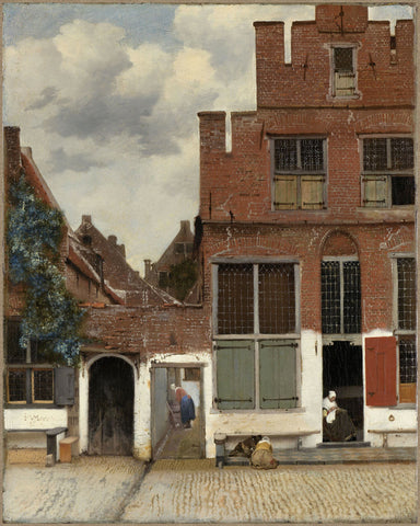 Delft, 1658, The Little Street, Het Straatje, Vermeer, Fine Art Print