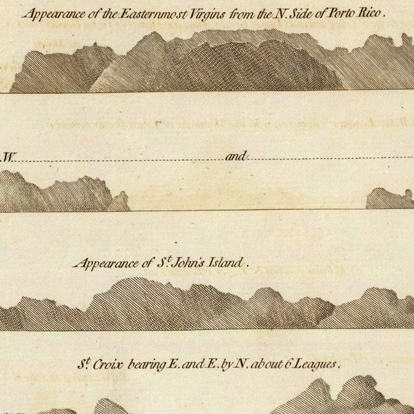 Caribbean, 1775, Virgin Islands, BVI, USVI, Old Map