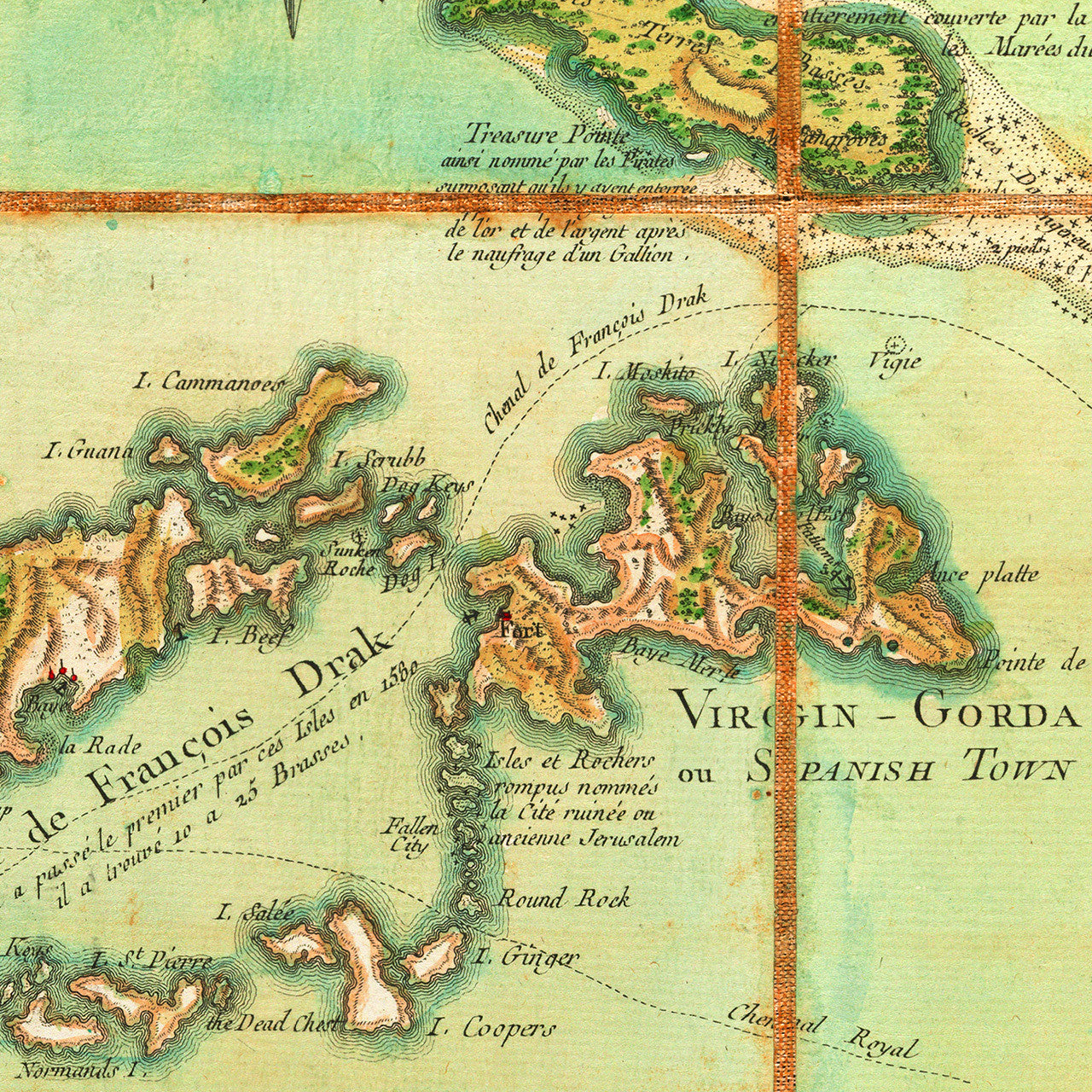 Map of the virgin islands 1779 les vierges bvi usvi caribbean 1779 virgin islands les vierges bvi usvi old map sciox Image collections