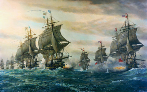 Chesapeake Bay, 1781, Battle of Virginia Capes, Revolutionary War, Fine Art Print