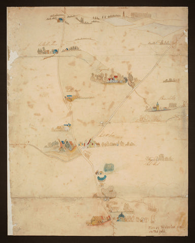 Waterloo, 1815, Battlefield Map, Manuscript, Used on the Field