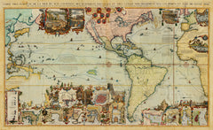 World 1719 Americas Pacific Chatelain Old Map Battlemapsus - Old-us-27-map