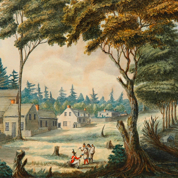 Toronto, 1803, York, Upper Canada, Watercolor View