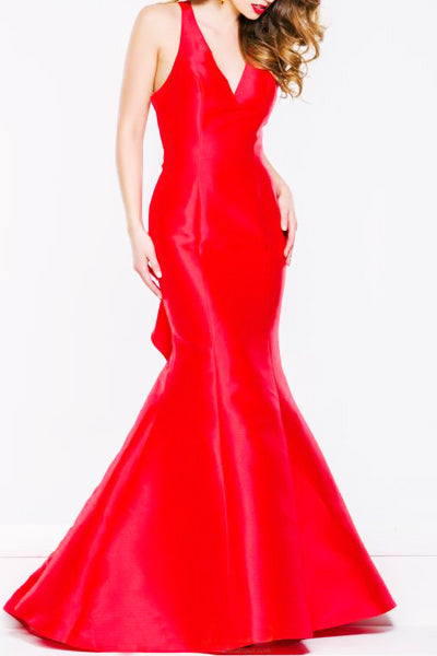 Red Deep Gown
