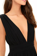 black dress gown