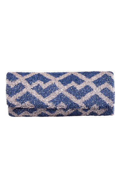 Cobalt Geometric Clutch