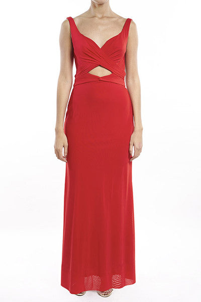 Red Crossover Gown
