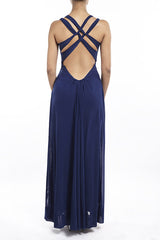 Cobalt cross beauty Gown