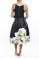 Black Flowers Gown