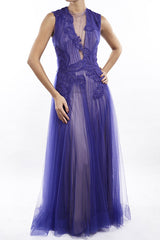 Mulberry lila Gown