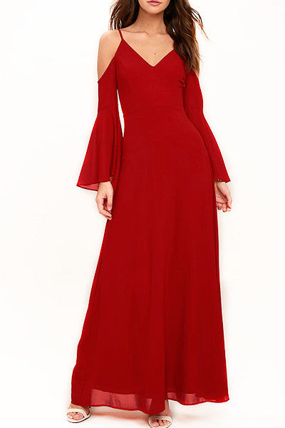 red sade gown