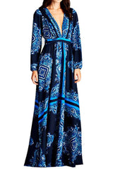 Lavande long sleeve gown