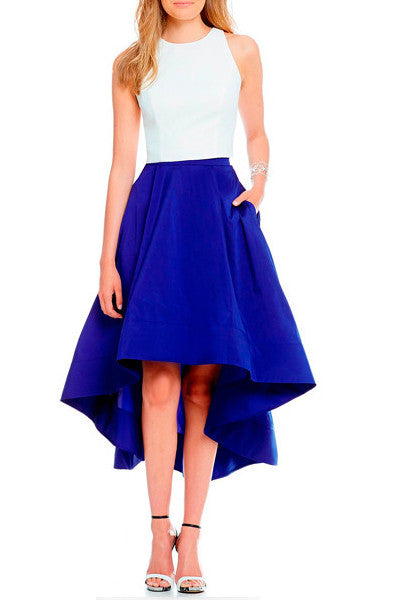 skirt blue klein