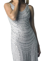 Silver Waterfall Gown