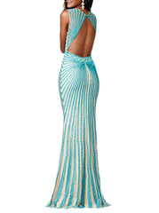 Aqua Diamond Gown