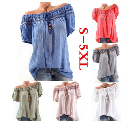 Women Blouse Blusas Hollow Out Sexy Summer Clothes Blouse