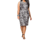 Women Dress Plus Size of  Sexy Leopard Printing