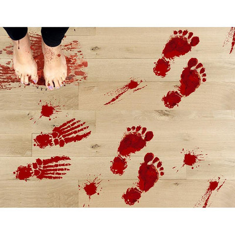 32PCS Halloween Bloody Footprints Floor Decals Clings Stickers - Happidtime