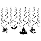 30Ct Halloween Haunted House Hanging Swirl Party Decorations - Creepy Bats/ Spiders/ Witch Ceiling Supplies
