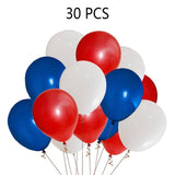 Fourth/4th of July Patriotic Decorations Bundle - Red/White/Blue Banner Star Balloons - Happidtime