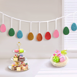 Glitter Easter Decorations Egg Banners Garland Ribbon -- Party Ornaments Supplies