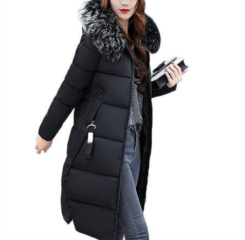 New 2018 Fashion Warm Winter Jacket  Female Jacket Winter Women Hooded Coat Down Parkas Long Outerwear