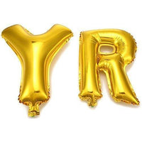 "Foil Balloons ""Happy Birthday"" Gold Letters Stars ,with a pump - Party Banner Decoration Supplies"