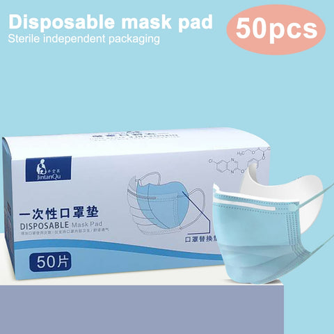 50/100pcs Disposable Facial Mask Non-woven Mask Replacement Universal Protective Replaceable Filter Pad Antidust Prevention