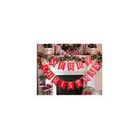 Merry Christmas Banners in Red White Green for Holiday Xmas Party Mantel Decoration Ornaments