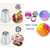 Make Flowers In Seconds! Russian Icing Piping Tips Cake Pastry Decorating Nozzle Kit (10 PCS)+1 Coupler