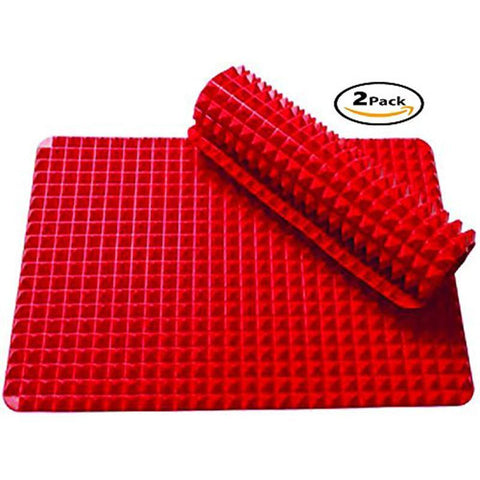 "2 Ct Silicone Baking Mat Cooking Sheets Non-stick Fat-reducing 16"" x 11.5"" - Happidtime"