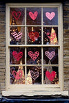 140 PCS Valentine's Day Window Clings Heart Stickers Wall Decal - Party Decorations Supplies