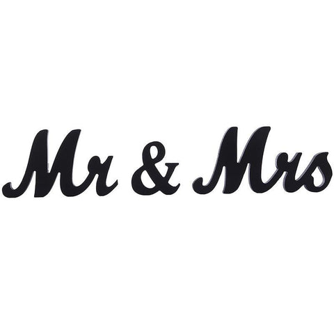 Jollylife Vintage Affair MR & MRS Black Wooden Letters Wedding Decoration/Present - Happidtime