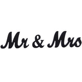 Jollylife Vintage Affair MR & MRS Black Wooden Letters Wedding Decoration/Present
