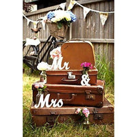 Jollylife Vintage Affair MR & MRS White Wooden Letters Wedding Decoration/Present