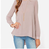Women Loose Blouse With Dovetail Chiffon