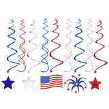 29 Ct Fourth of July Hanging Swirl Decorations - Happidtime