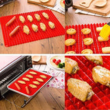 "2 Ct Silicone Baking Mat Cooking Sheets Non-stick Fat-reducing 16"" x 11.5"""