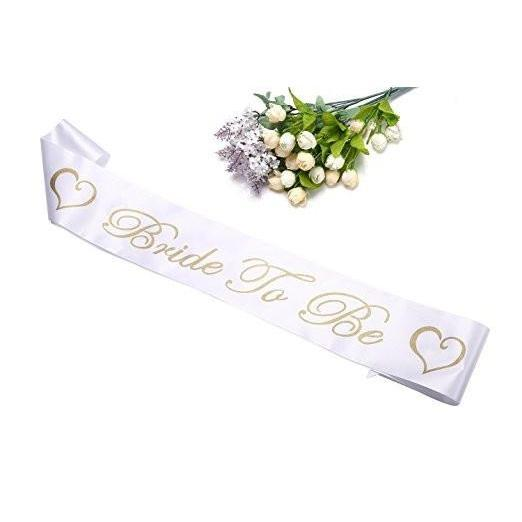 Bride to Be Satin Sash - Bachelorette /Bridal Shower/Wedding Shower/Hen Night Party Favors Supplies Accessories Decorations