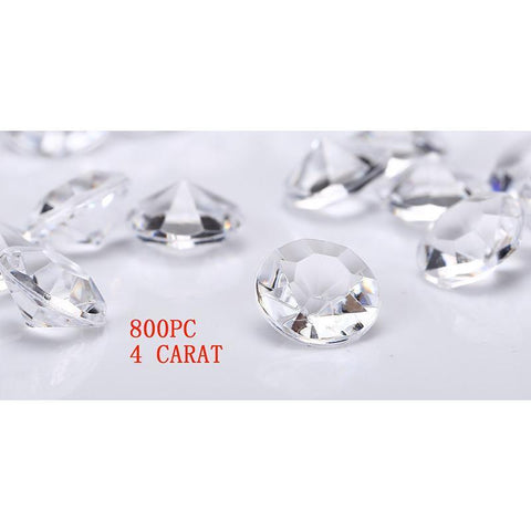 Jollylife 800 Diamond Table Confetti Wedding Bridal Shower Party Decorations 4 Carat/ 10mm Clear - Happidtime